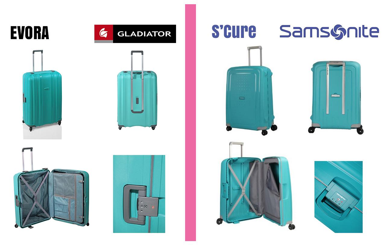 Comparativa trolley maleta gladiator vs samsonite