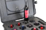 maleta para llevar vino